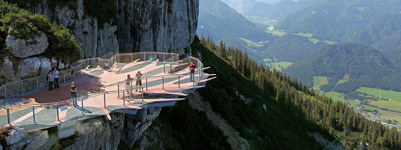 Aussichtsplattform Steinplatte Waidring (c) Steinplatte Waidring