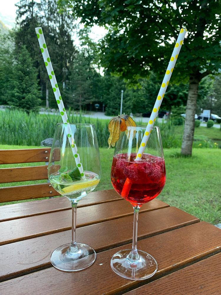 Getränke im Gasthaus Grubhof