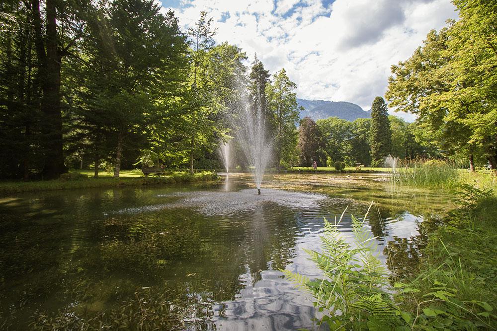 Teichanlage im Schlosspark Grubhof