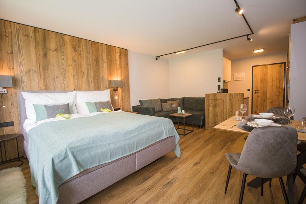Wohn- und Schlafbereich - Übersicht über die Ferienwohnung