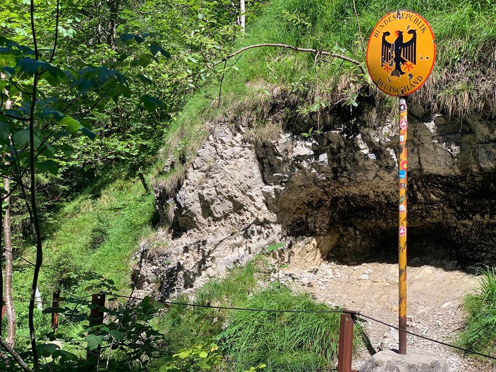 Wanderung Staubfall Heutal Unken - Staatsgrenze Deutschland