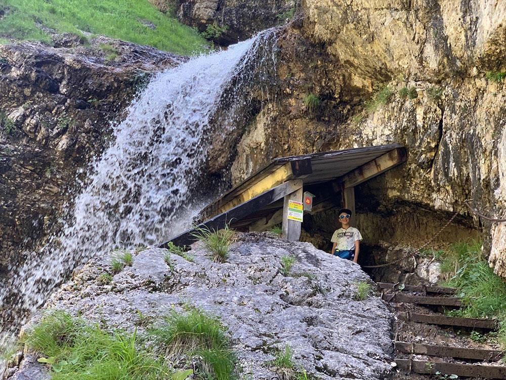 Wanderung Staubfall Heutal Unken - Staubfall Wasserfall