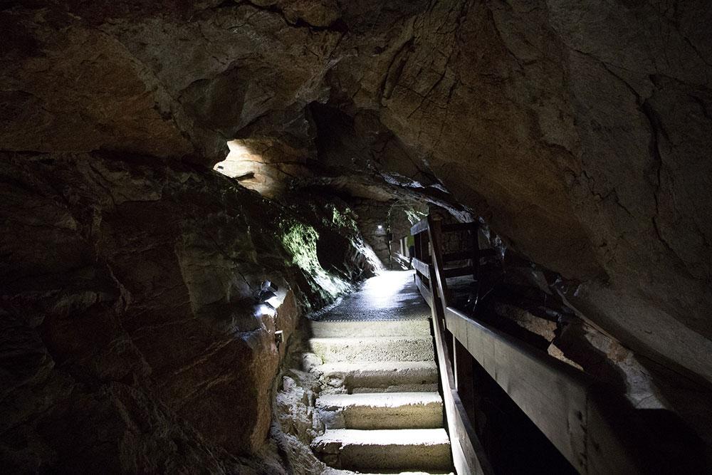 Lamprechtshöhle St. Martin bei Lofer - Ausgang