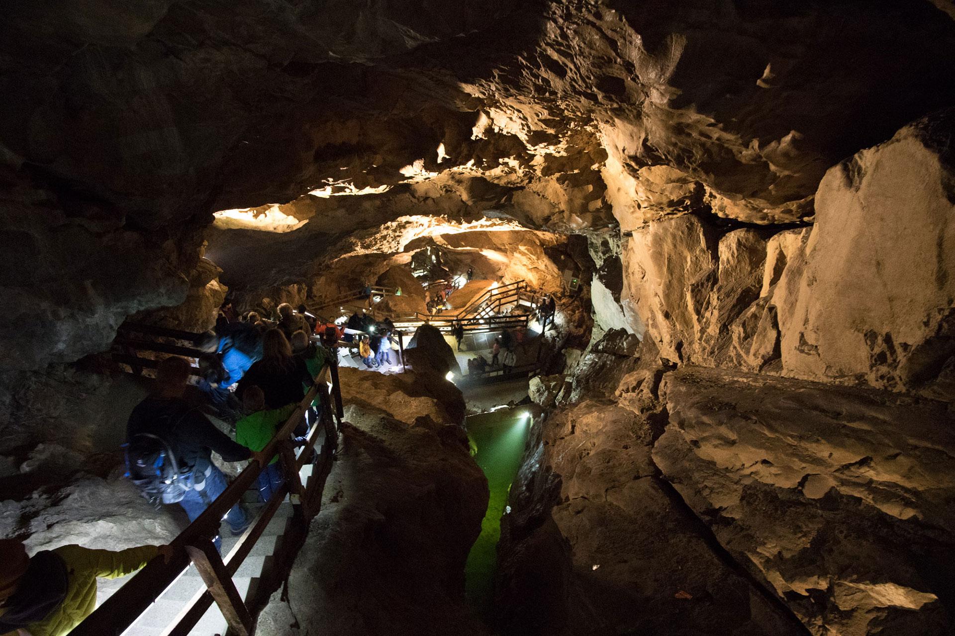 Lamprechtshöhle St. Martin bei Lofer - von oben