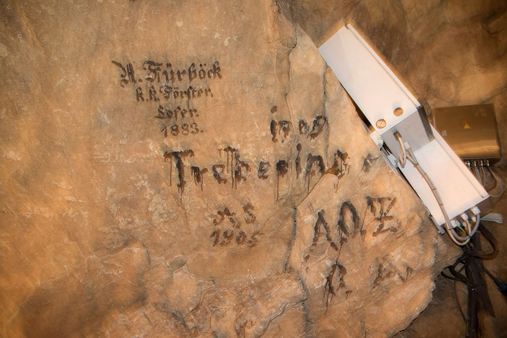 Lamprechtshöhle St. Martin bei Lofer - alte Höhlenforscher
